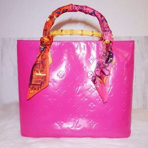 Louis Vuitton Houston Vernis Pink Bag Satchel Tote